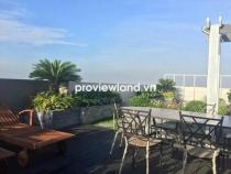 Cho thuê căn hộ 300m2 4PN có sân vườn view đẹp Penthouse Sunrise City nội thất đầy đủ