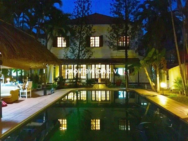 Bán biệt thự DT 1500m2 5PN Thảo Điền đường Xuân Thủy hồ bơi sân vườn thiết kế sang trọng