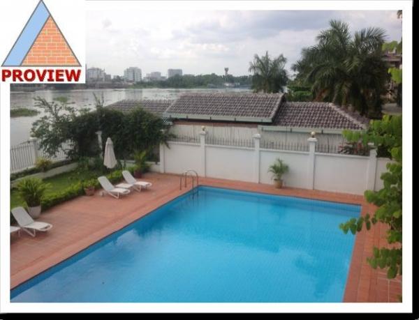 Cho thuê biệt thự Thảo Điền mặt tiền sông Sài Gòn thoáng mát 400m2