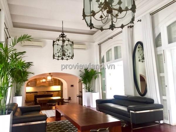 Cho thuê biệt thự Thảo Điền kiểu Pháp 700m2 5 phòng ngủ nội thất đầy đủ