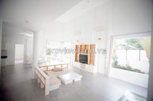 Biết thự Trần Não cho thuê 350m2 - 2 tầng 3 phòng ngủ - hồ bơi sân vườn đầy đủ nội thất