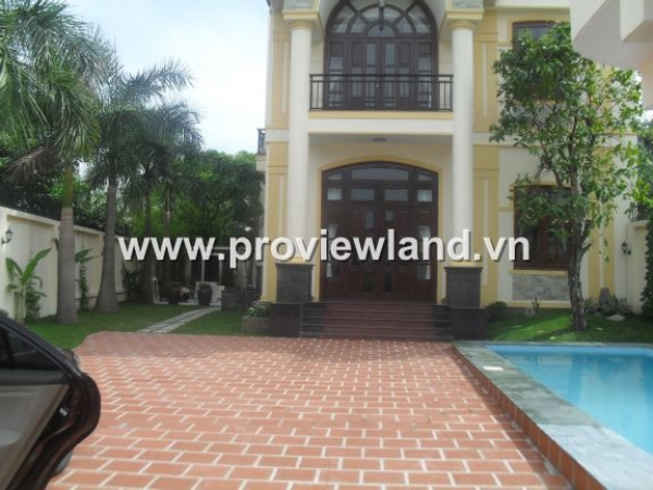 Thao Dien villa for sale with beautiful pool, garden