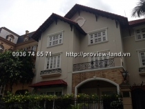 Villa Thao Dien for rent with 700sqm European-style