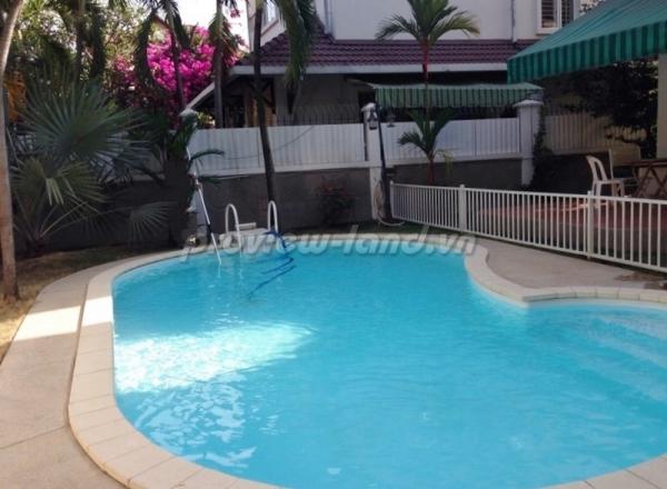 Biệt thự cho thuê 450m2 khu Thảo Điền 1 có hồ bơi đẹp