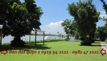 Bán đất ven sông Sài Gòn khu Thảo Điền quận 2 DT 2500m2 vị trí đẹp được đồng bộ