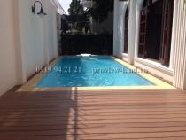 Cho thuê Villa hồ bơi sân vườn 670m2 khu biệt thự Thảo Điền