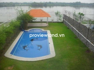 Leasing villa in Compound on Nguyen Van Huong 800sqm 5 beds with river view