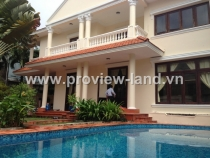Villa for rent in Thao Dien District 2, garden and pool