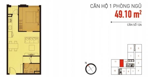 Bán căn hộ tại ICON 56 với 1 phòng ngủ