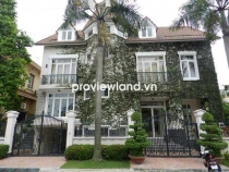 Villa for rent in Thao Dien near BIS school 2 floors 5 bedrooms part furniture