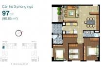 Bán căn hộ tầng cao 97m2 3PN view đẹp Lexington thiết kế thoáng đầy đủ nội thất