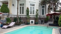 The Thao Dien Villa for rent with area is 600sqm, nice swimming pool.