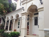 Villa for rent in Thao Dien compound with 4 bedrooms, spacious garden, very beautiful