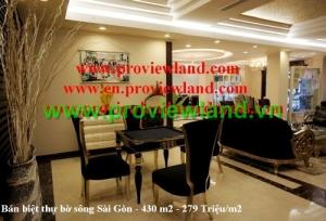 Bán biệt thự Sai Gon PEARL căn góc bờ sông Sài Gòn
