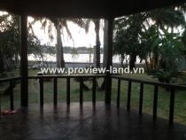 Cho thuê Villas thảo điền căn góc bờ sông sài gòn dt đất  1000m2 gồm 5PN -7WC
