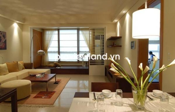 Cho thuê căn hộ 98m2 2PN view đẹp The Manor HCM tháp AW tầng cao full nội thất