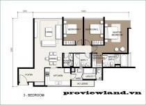 Cần bán căn hộ The Vista 3 phòng ngủ tầng cao