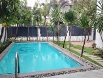 Cho thuê villa khu compound Thảo Điền DT 500m2 sân vườn đẹp