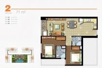 Căn hộ Lexington 71m2 2 phòng ngủ view xa lộ cần cho thuê