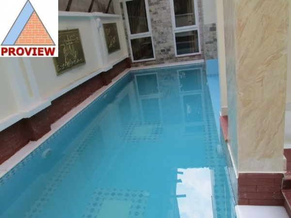Nam Thong villa for rent in Phu My Hung, District 7 cheap pool