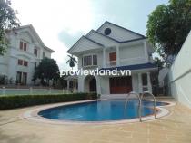 Biệt thự khu Compound Phú Nhuận cho thuê 800m2 5PN 6WC sân vườn hồ bơi gara