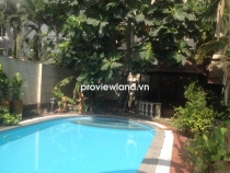 Villa for sale in Thao Dien in Compound Xuan Thuy 489sqm 4 BRs pool and small garden