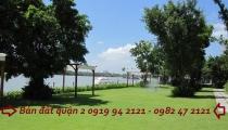 Bán đất bờ sông saigon Thảo Điền Quận 2 rộng 1500m2 đất